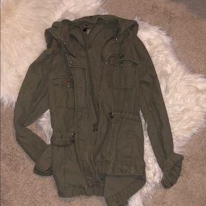 H&M Green Utility Jacket